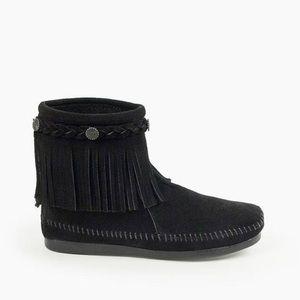 High Top Back Zip Boot